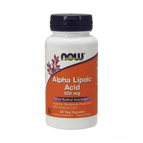 Альфа-липоевая кислота 100 мг NOW (60 капсул)