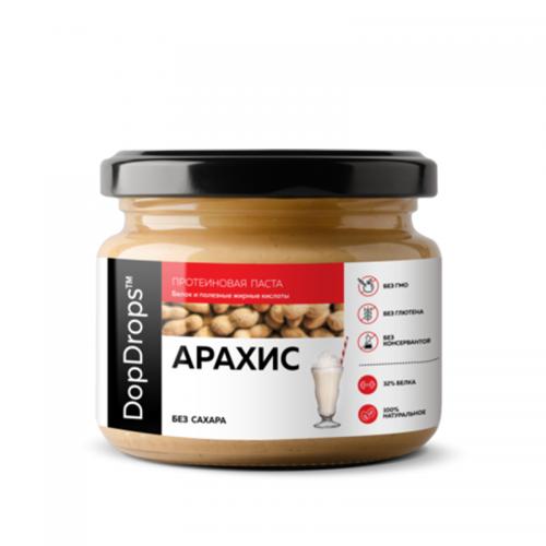 Паста Арахисовая протеиновая без добавок (250 г) DopDrops