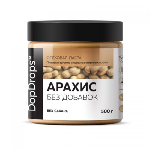 Арахисовая паста Кранч без добавок (500 г) DopDrops
