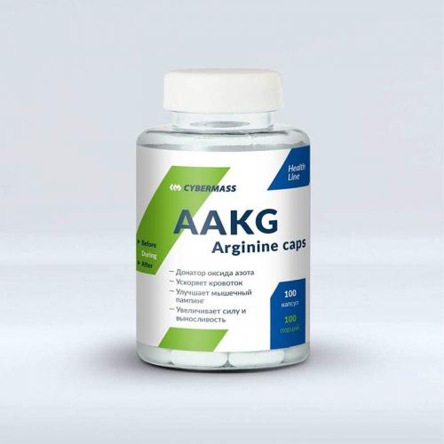 Аргинин AAKG Cybermass (100 капсул)