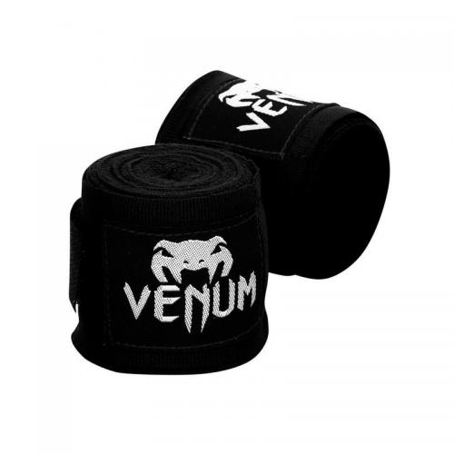 Боксерские бинты Venum Kontact Черные 4 метра