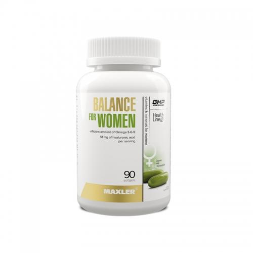 Витамины для женщин Balance for women Maxler (90 капсул)