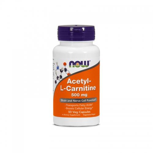 Жиросжигатель Acetyl L-Carnitine NOW (500 мг, 50 таблеток)