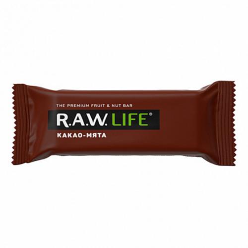 Батончик R.A.W.LIFE Какао-мята (47 г)