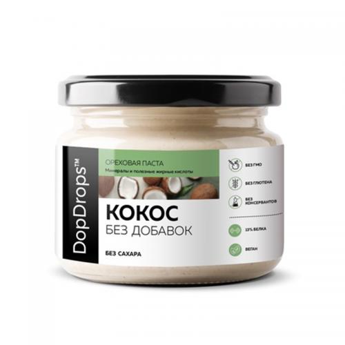 Паста Кокосовая без добавок без сахара (500 г) DopDrops