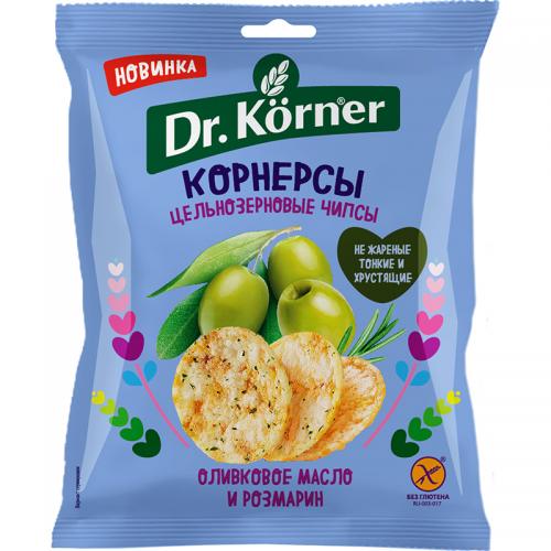 Цельнозерновые чипсы Dr.Korner, оливковое масло и розмарин (50 г)