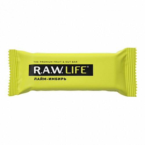 Батончик R.A.W.LIFE Лайм-Имбирь (47 г)