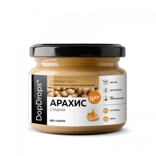 Паста Арахисовая Крем сладкая без сахара (150 г) DopDrops