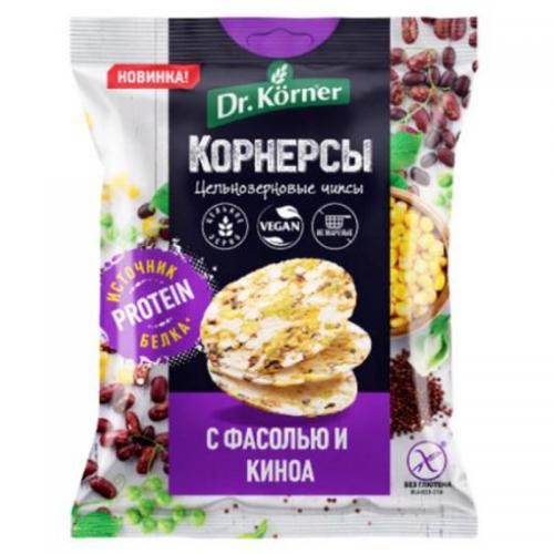 Цельнозерновые чипсы Dr.Korner с фасолью и киноа (50 г)