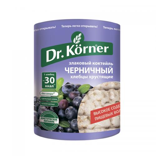 Хлебцы Dr.Korner злаковый коктейль черничный (100 г)