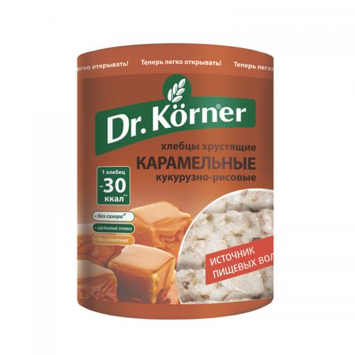 Хлебцы Dr.Korner кукурузно-рисовые, карамель (90 г)