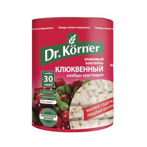 Хлебцы Dr.Korner злаковый коктейль клюквенный (100 г)