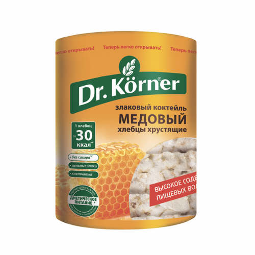 Хлебцы Dr.Korner злаковый коктейль медовый (100 г)