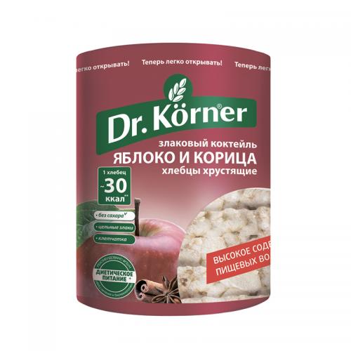 Хлебцы Dr.Korner злаковый коктейль яблоко с корицей (100 г)