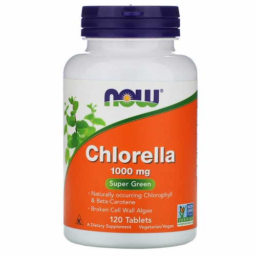Хлорелла 1000 mg NOW (120 таблеток)