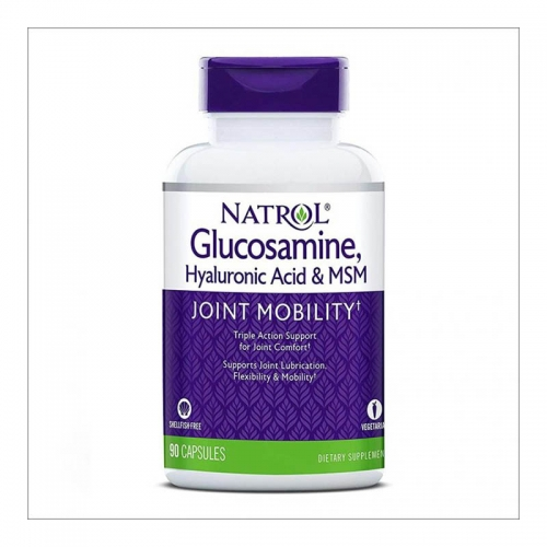 Хондропротектор Glucosamine Hyaluronic acid MSM Natrol (90 таблеток)