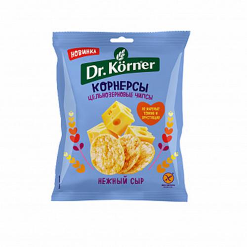 Цельнозерновые чипсы (корнерсы) Dr.Korner с нежным сыром (50 г)