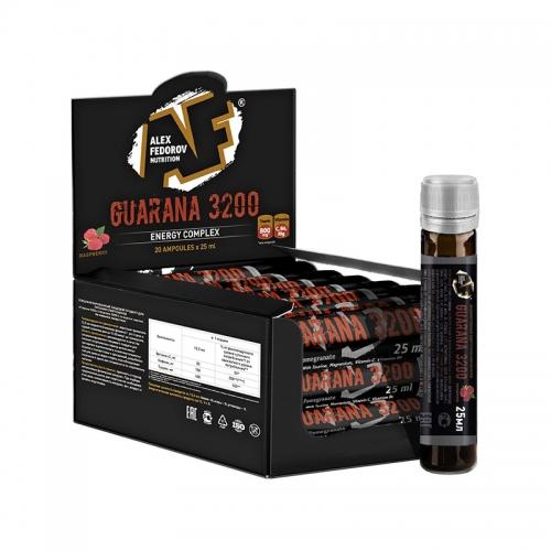 Энергетик растительного происхождения Guarana 3200 Alex Fedorov Nutrition (1 ампула, 25 мл)