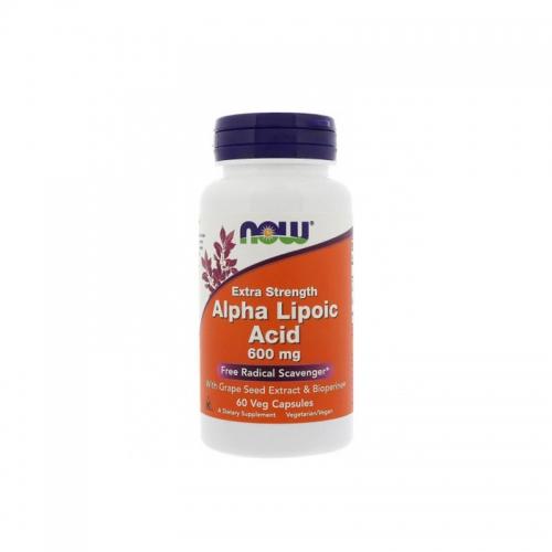 Альфа-липоевая кислота 600 мг NOW (60 капсул)