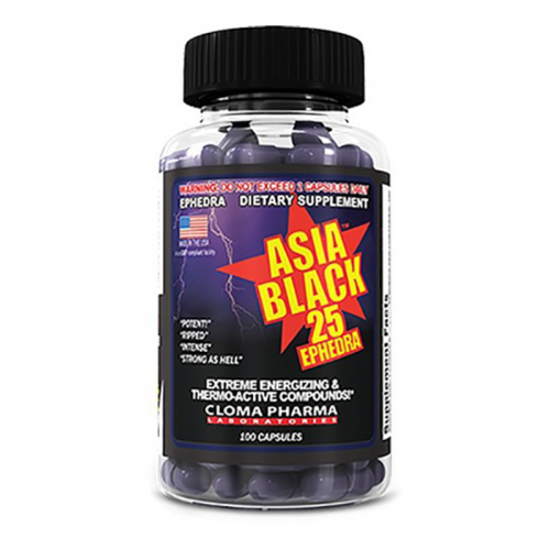 Asia Black-25 100 caps Cloma Pharma