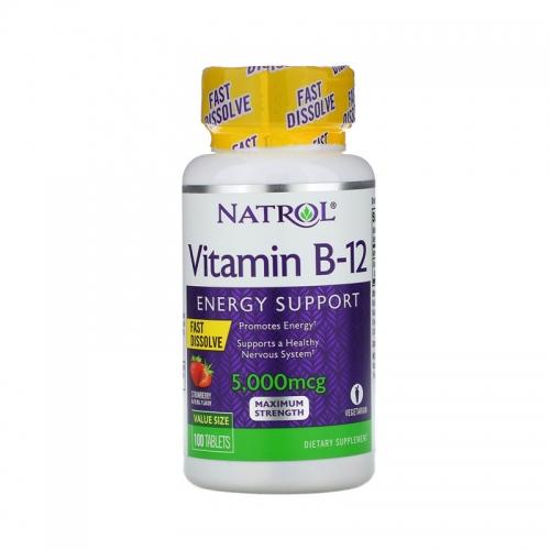 B-12 5000 мкг БР (100 табл) Natrol