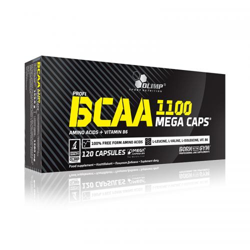BCAA Mega Caps Olimp (1100 мг, 120 капсул)
