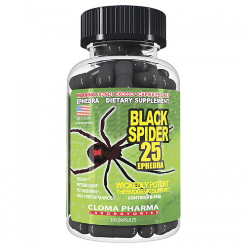 Жиросжигатель Black Spider Cloma Pharma (100 капсул)