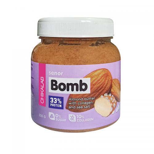 Паста миндальная с морской солью BOMB Chikalab (250 г)