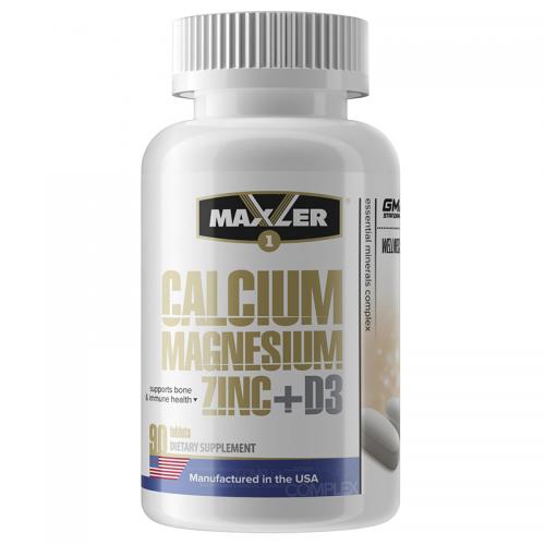 Витаминно-минеральный комплекс Calcium Zinc Magnesium+D3 Maxler (90 таблеток)