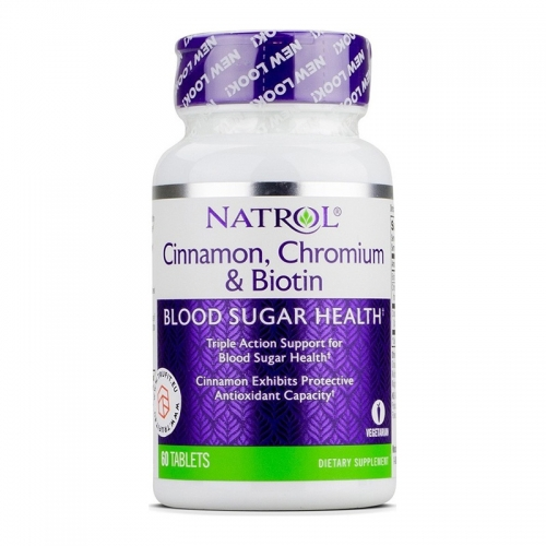 Cinnamon & Biotin & Chrome (60 таб) Natrol