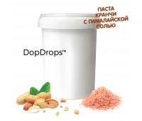 Арахисовая паста Кранч с гималайской солью (1000 г) Dopdrops