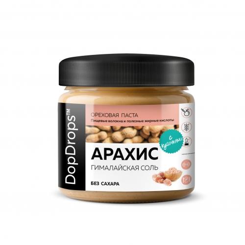 Паста Арахисовая Кранч с гималайской солью (150 г) Dopdrops