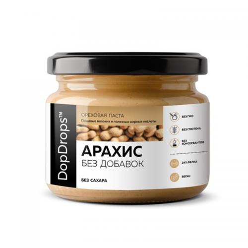 Паста Арахисовая без добавок без сахара (250 г) DopDrops