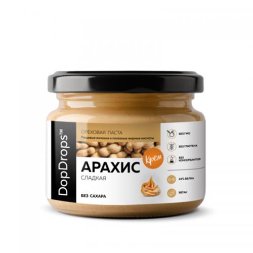 Паста Арахисовая Крем сладкая без сахара (250 г) DopDrops