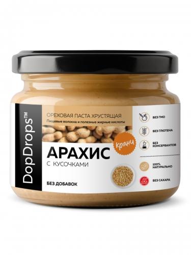 Паста Арахисовая Кранч без добавок (250 г) DopDrops