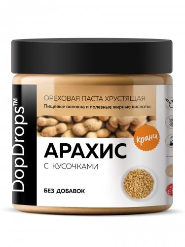 Паста Арахисовая Кранч без добавок (500 г) DopDrops