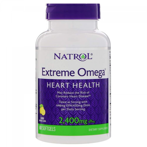 Extreme omega Natrol (2400 мг, 60 капсул)