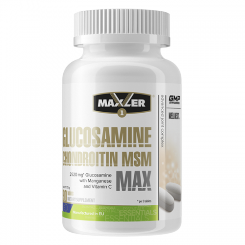 Хондропротектор Glucosamine-Chondroitin-MSM MAX Maxler (90 таблеток)