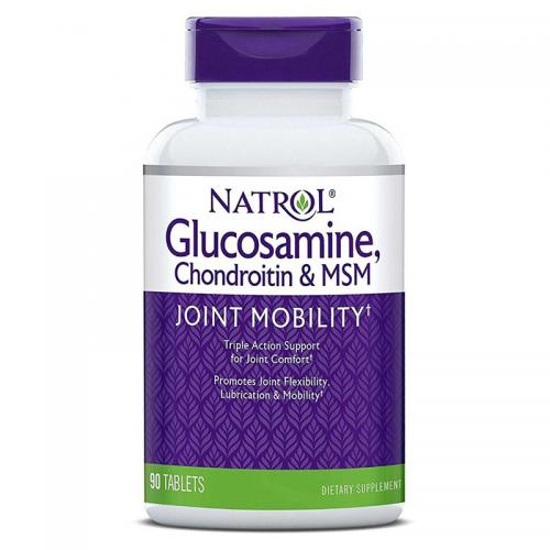 Хондропротектор Glucosamine Chondroitin MSM Natrol (90 таблеток)