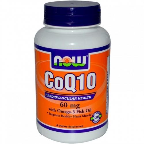 Коэнзим CoQ10 60 мг NOW (60 капсул)