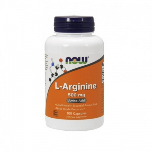 Аргинин L-arginine 500 мг NOW (100 капсул)