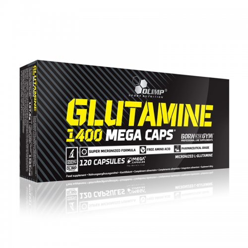 Аминокислоты L-Glutamine Megacaps Olimp (1400 мг, 120 капсул)