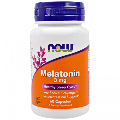 Мелатонин NOW Melatonin (3 мг, 60 капсул)