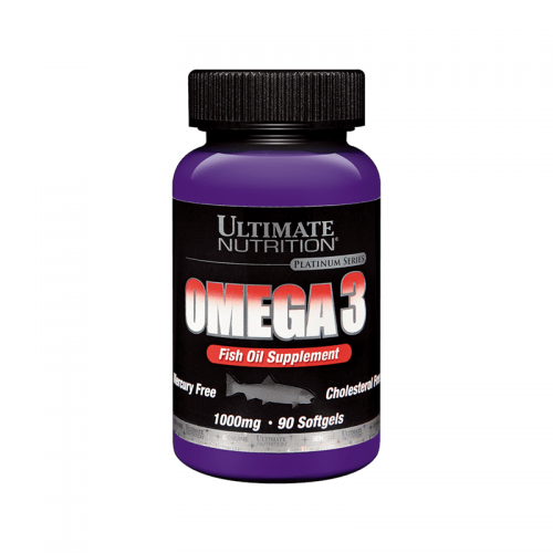 Omega 3 Ultimate Nutrition (1000 мг, 90 капсул)