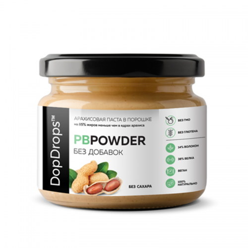 Арахисовая паста PBPowder (120 г) DopDrops