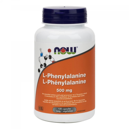 Аминокислоты L-phenylalanine NOW (500 мг, 120 капсул)