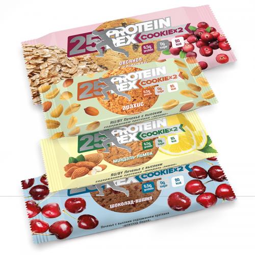 Протеиновое печенье 25% протеина Protein Rex (50 г)