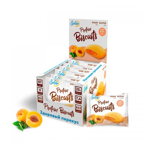Protein Biscuits с низкокалорийной начинкой Solvie (40 г)