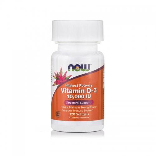 Витамин D3 10000 IU 120 гелевых капсул