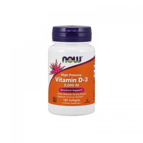 Витамин D3 2000 IU NOW 120 капсул